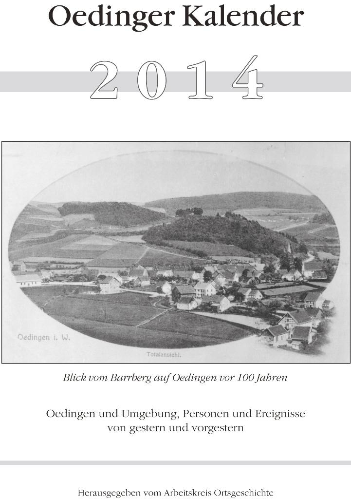 Bild von Oedinger Kalender 2014 – Jetzt erhältlich