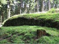 """Grundemauern der Burg Oedingen - Im Volksmund """"Altes Schloss"""" genannt"""