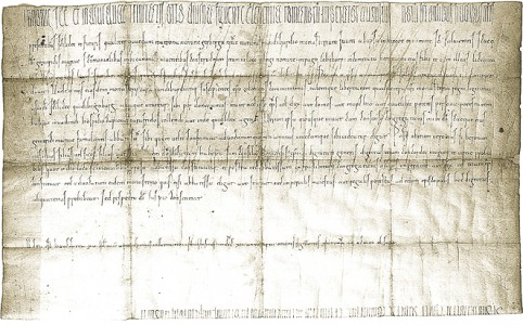 Urkunde aus dem Jahr 1000 - Kaiser Otto III. nimmt das Stift Oedingen unter seinen persönlichen Schutz