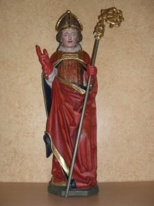 St. Burchard aus dem Jahr 1480 - Patron der Oedinger Kirche
