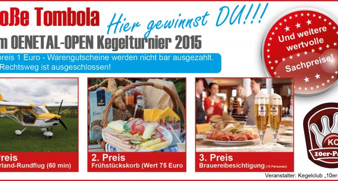 Kegelturnier 2015 – Preisliste Tombola jetzt online