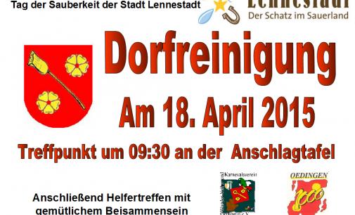 Dorfreinigung in Oedingen am 18. April