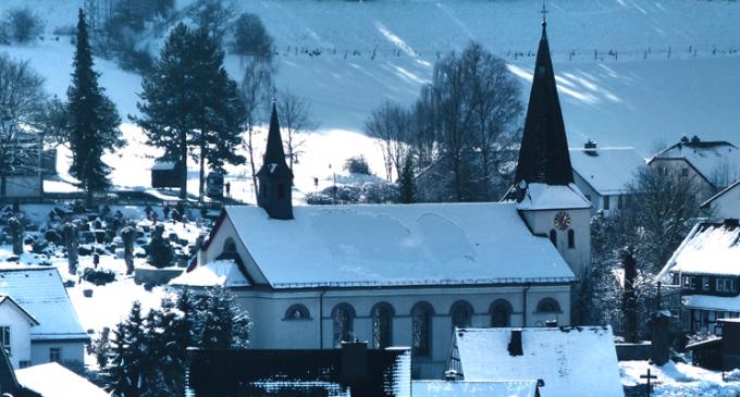 Winterzeit in Oedingen – Blick auf St. Burchard