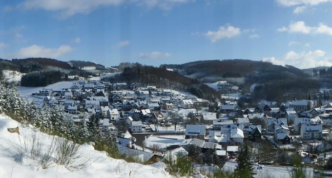 Winterzeit in Oedingen – Panoramablick auf Oedingen