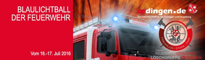 Blaulichtball der Feuerwehr