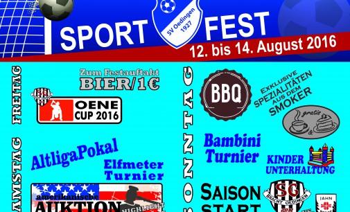 +++ Sportfest vom 12. bis 14. August +++