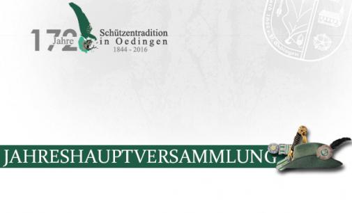 """Schützen tagen bei """"Oedinger Dreiklang"""" – Jahreshauptversammlung 2016"""
