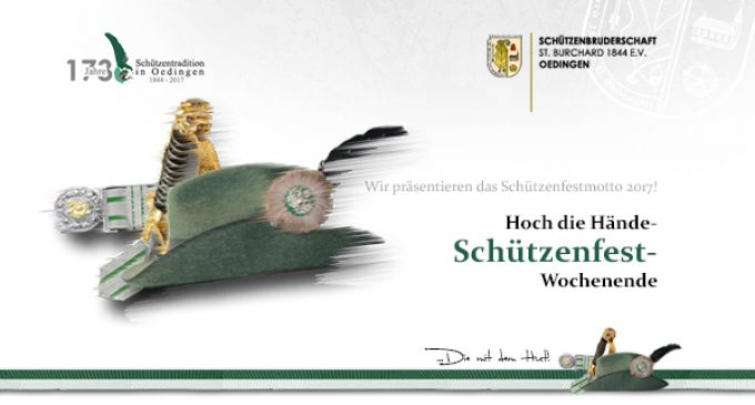 Schützenbruderschaft präsentiert das Schützenfest-Motto 2017