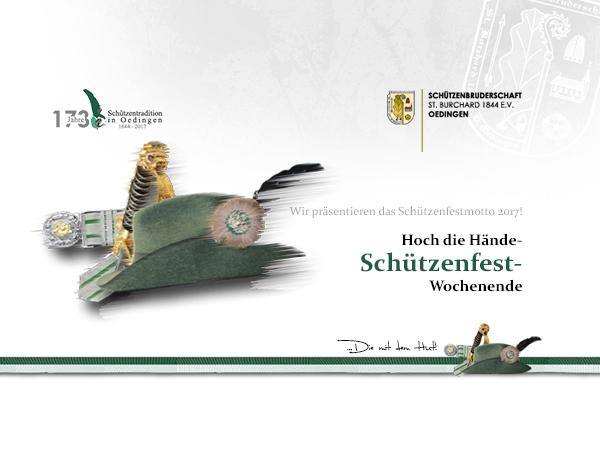 Bild von Schützenbruderschaft präsentiert das Schützenfest-Motto 2017