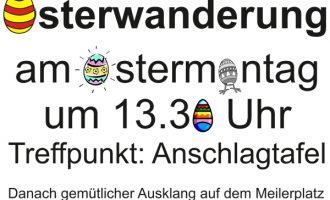 WKKV Oedingen lädt zur Osterwanderung