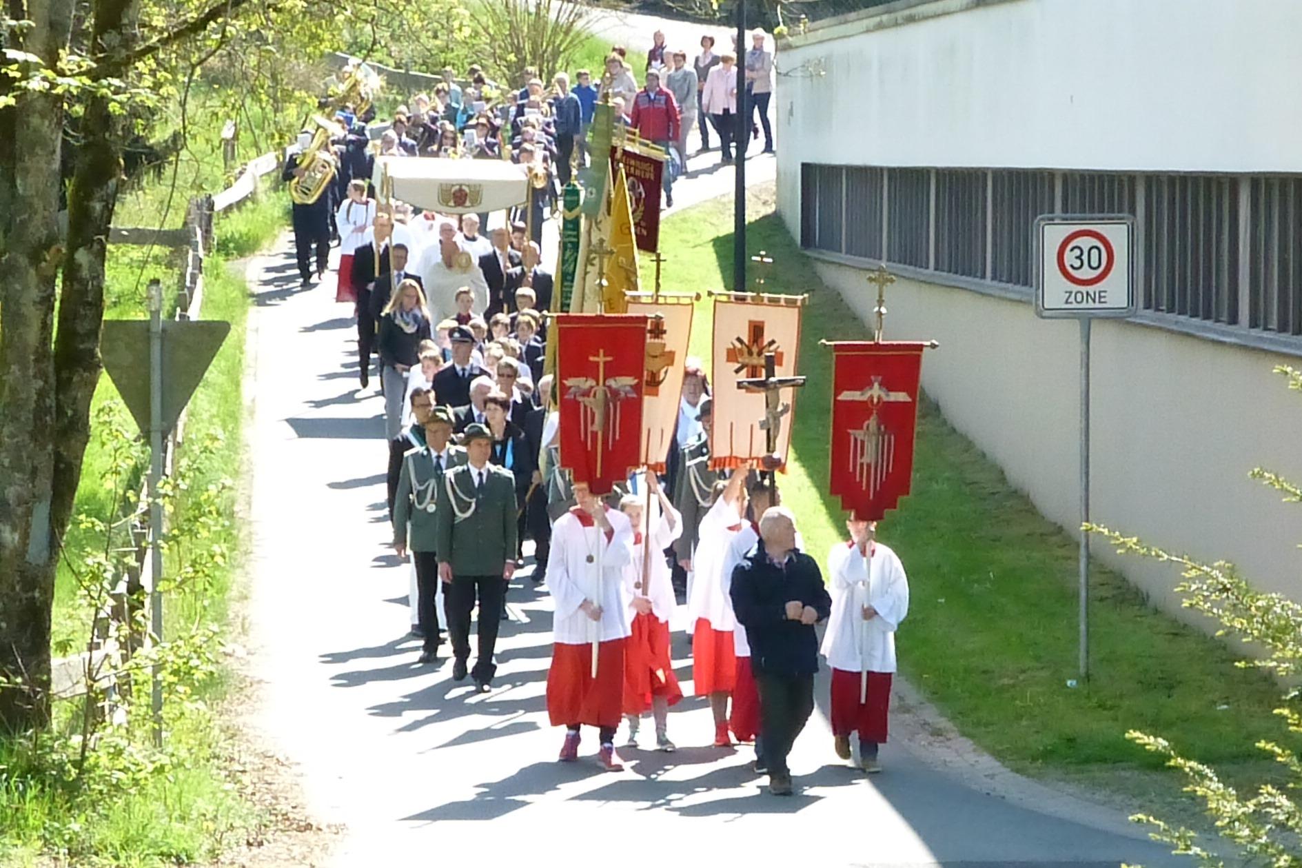 Bild von Prozession an Christi-Himmelfahrt