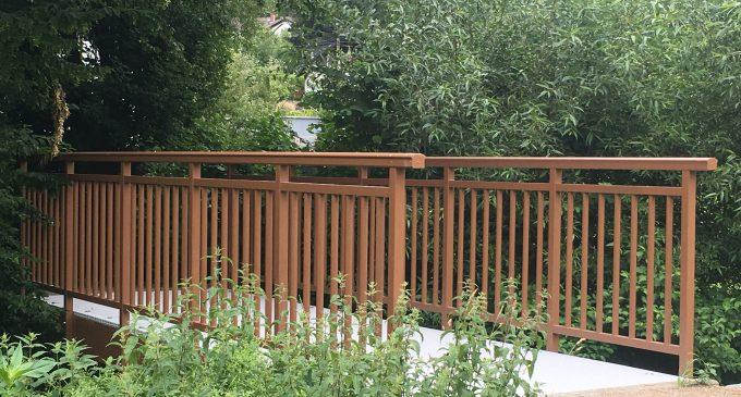 Brücke auf Fabris Wiese erneuert