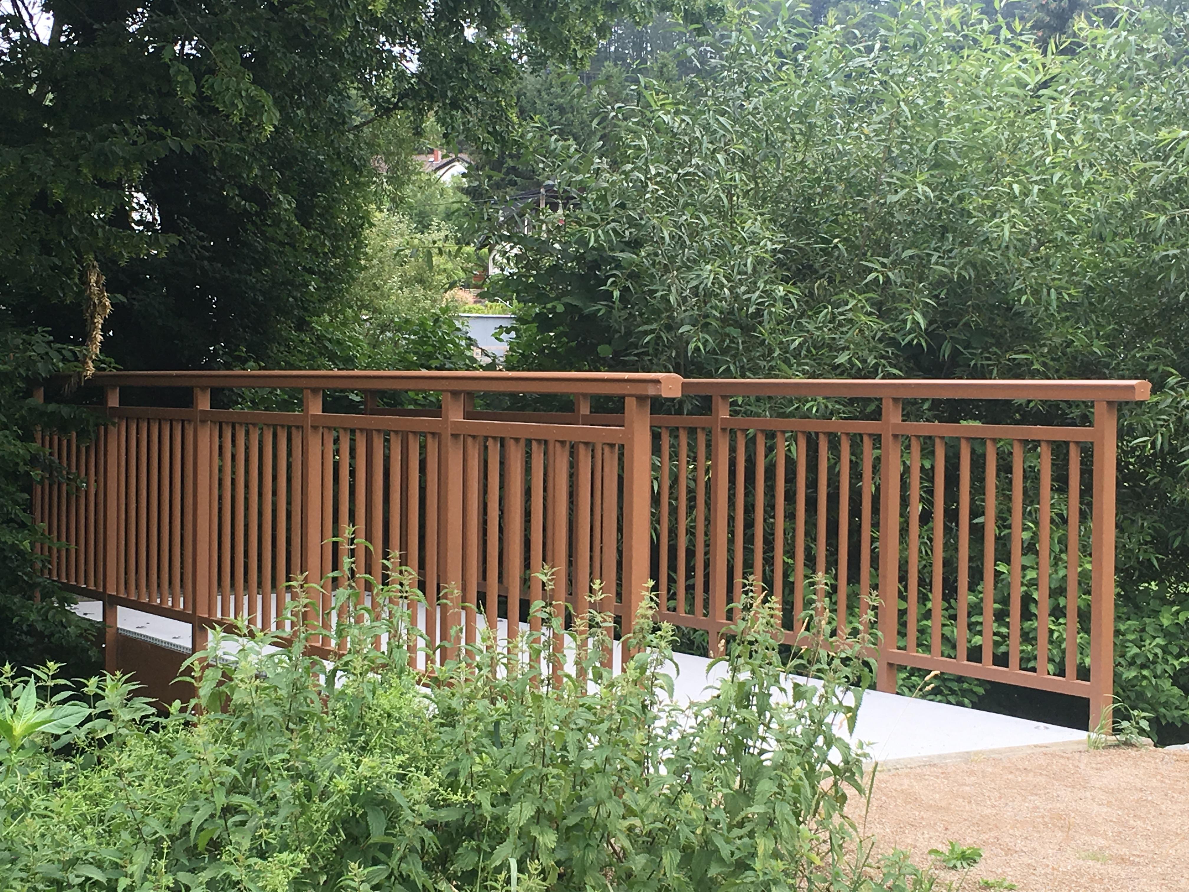 Bild von Brücke auf Fabris Wiese erneuert