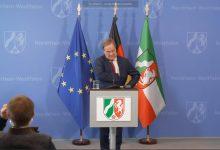 Bild von Ministerpräsident Armin Laschet zur aktuellen Lage der Corona-Pandemie in NRW