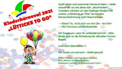 Bild von Lütticke to go – Kinderkarneval 2021